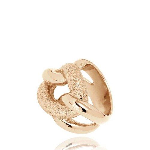 Diamond Effect Gourmet ring - Champagne Goud