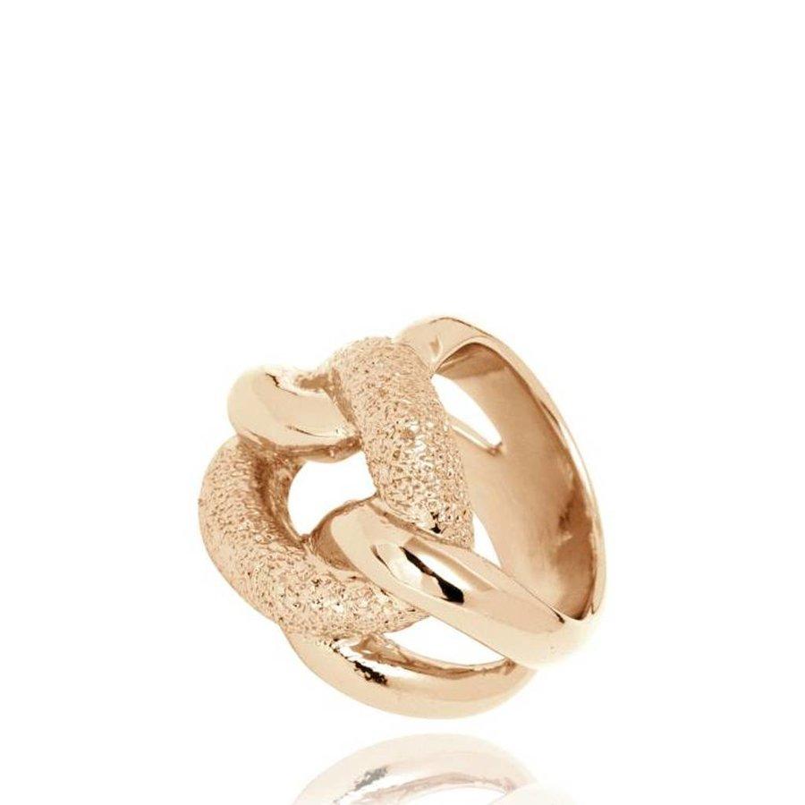 Diamond Effect Gourmet ring - Light Gold