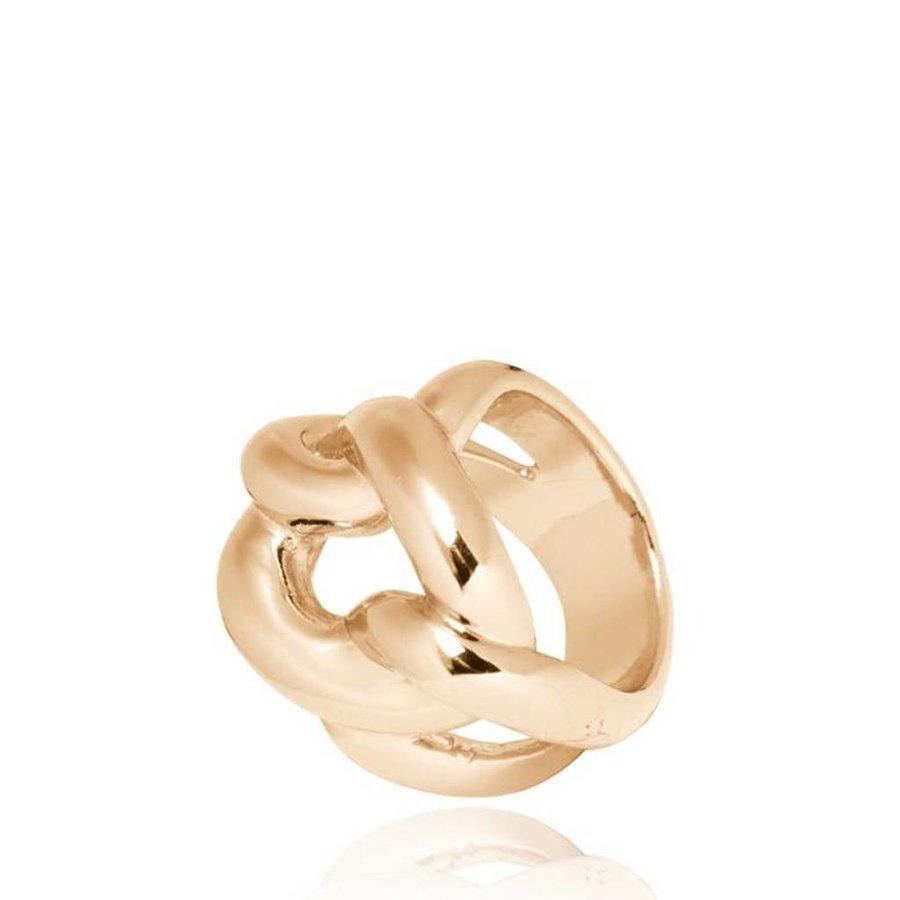 Plain Gourmet ring - Light gold