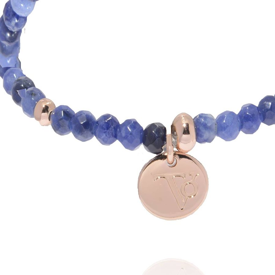 Romancing the stones bracelet - Blue/Rose Gold