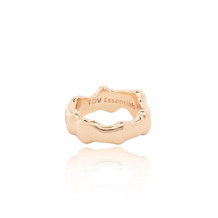 OAK ring - bold - light brass