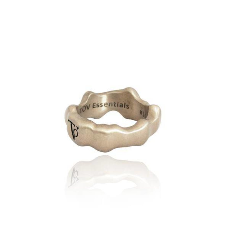 Oak ring - bold -silver