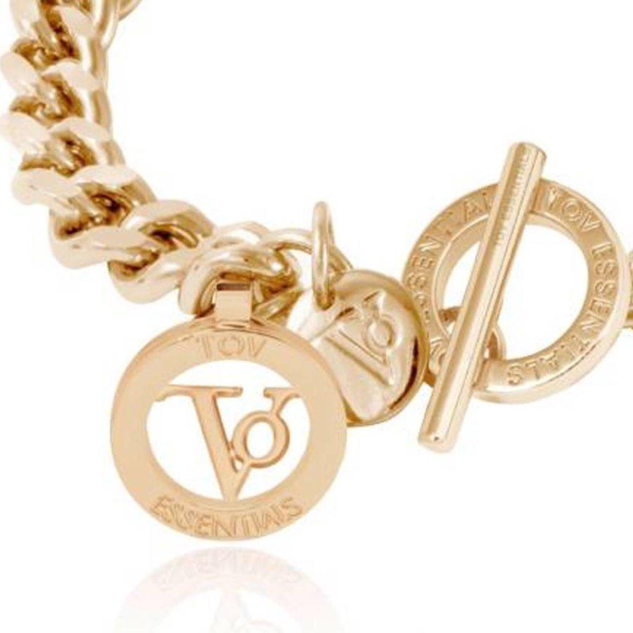 Ini mini flat chain armband - Champagne Goud