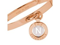 Iniziali bangle 2.0 - Rose/White Gold - Letter N