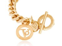 Ini mini flat chain armband - Goud