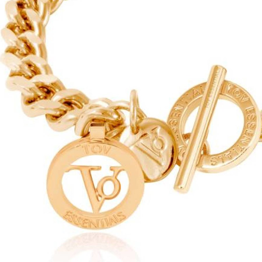 Ini mini flat Chain - Armband - Goud