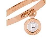 Iniziali bangle 2.0 - Rose/White Gold - Letter P