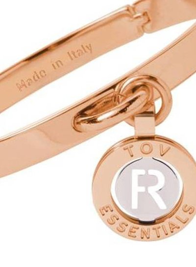 Iniziali bangle 2.0 - Rose/Wit Goud - Letter R