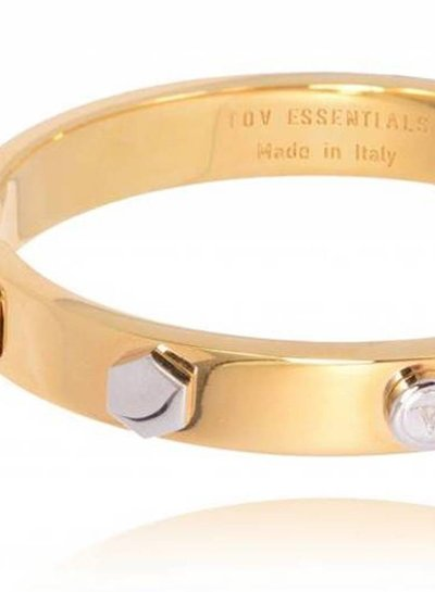 TOV rivets bangle - Goud/Wit Goud