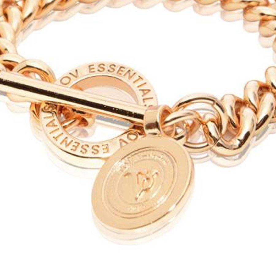 Mini medaillon solochain bracelet - Rose