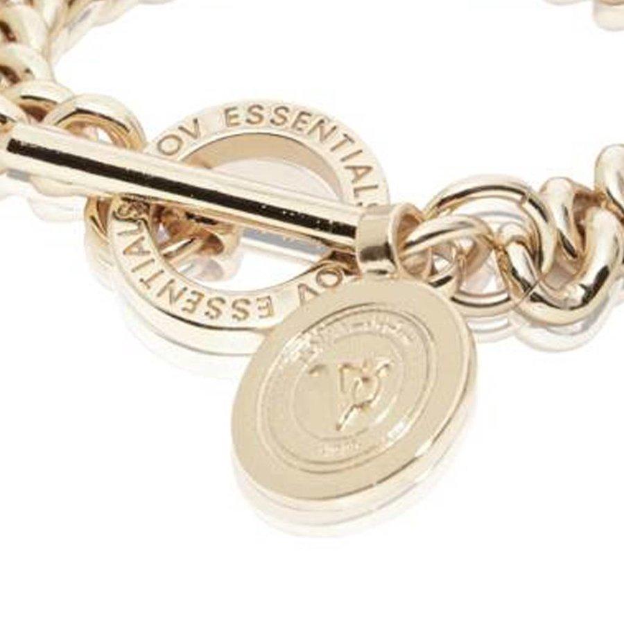 Mini medaillon solochain armband - Champagne Goud