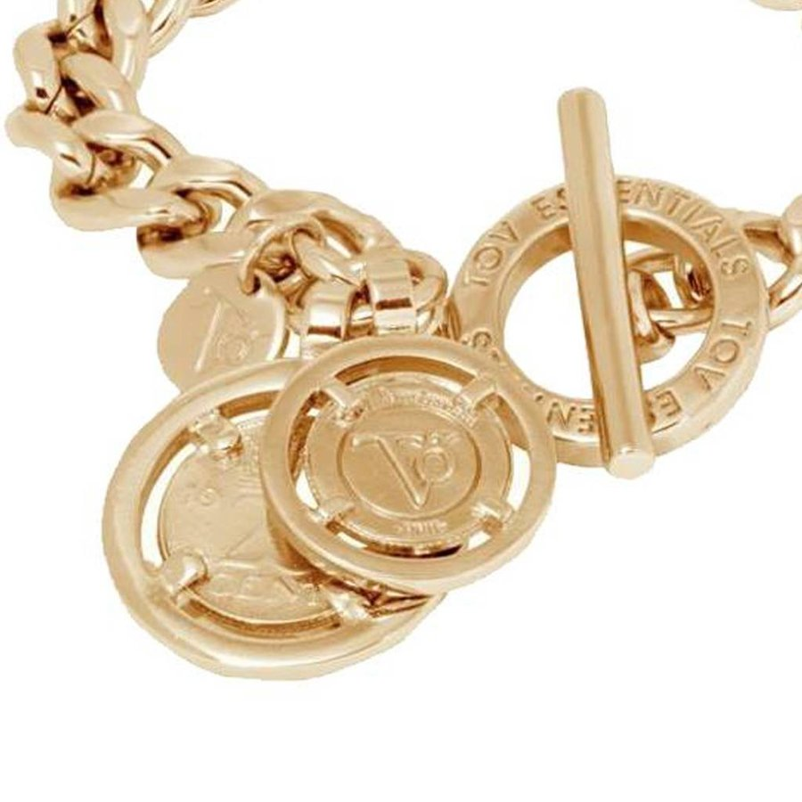 Mini flat chain armband - Champagne Goud