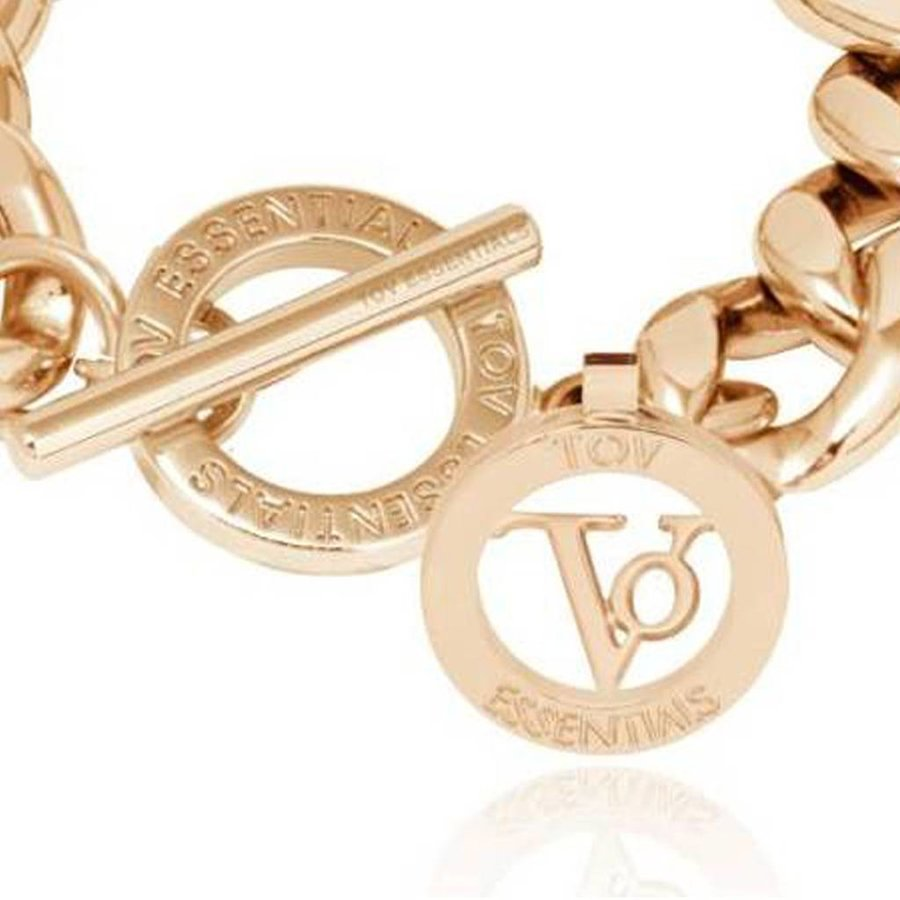 Small flat chain armband - Champagne Goud