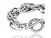 Twisted chain armband - White Gold