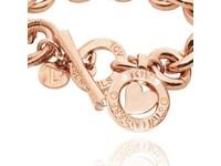 Round gourmet bracelet - Rose/Heart