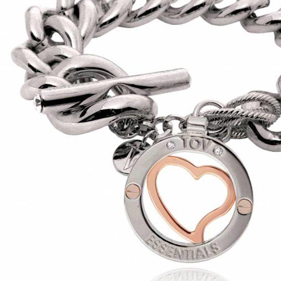 Heart bi colour Tri - Armband