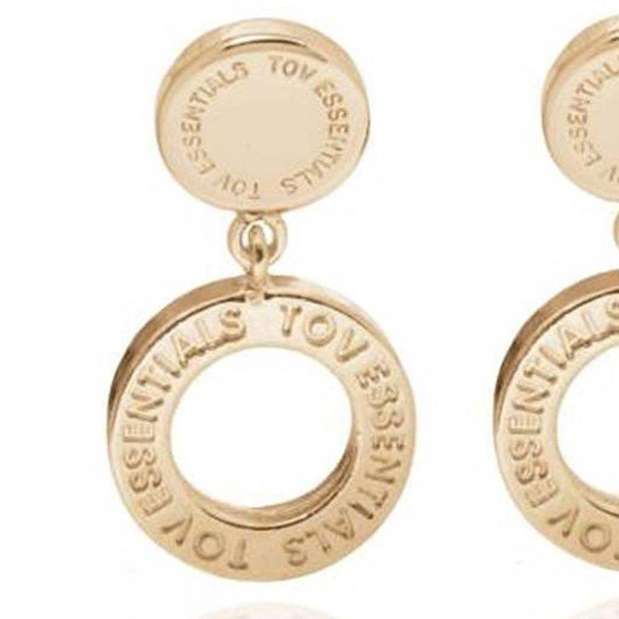 1 position oorbellen - Champagne Goud