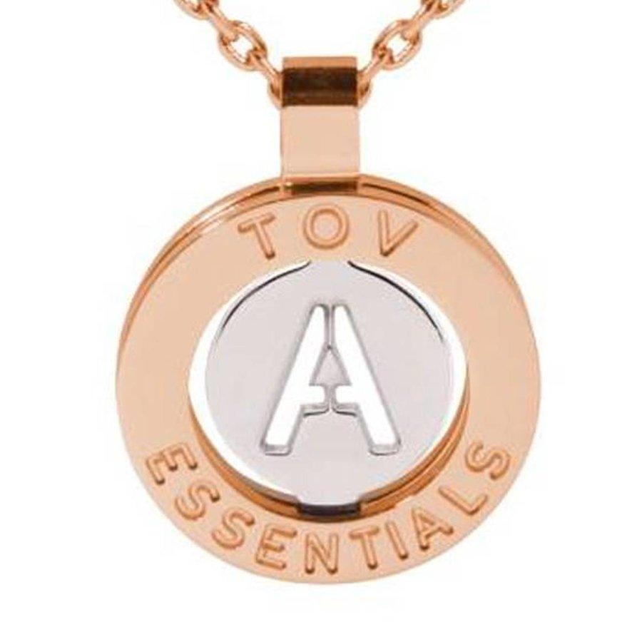 Iniziali necklace 2.0 - Rose/White Gold - Letter A