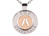Iniziali ketting 2.0 - Wit Goud/Rose - Letter A