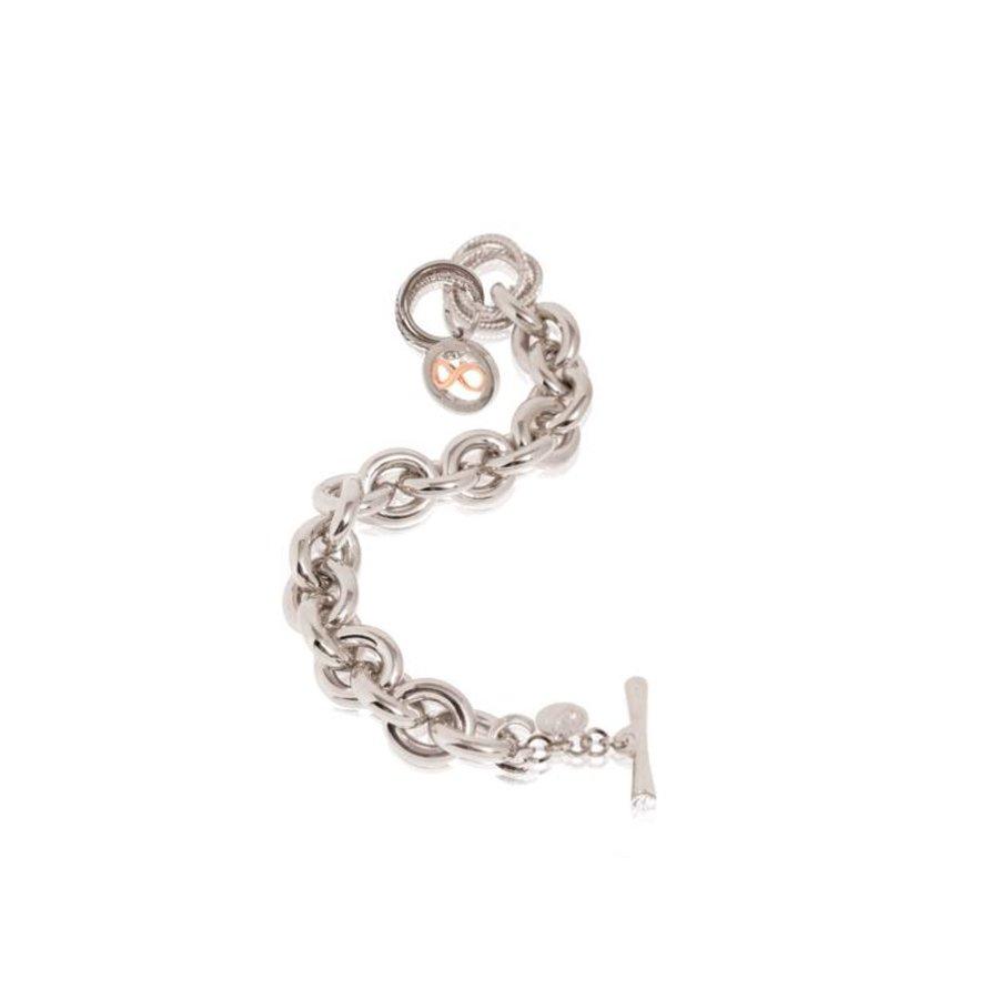 Infinity Medallion - Armband - wit goud- rose