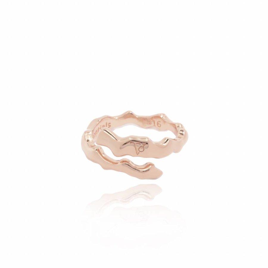 Oak twig - ring - rose
