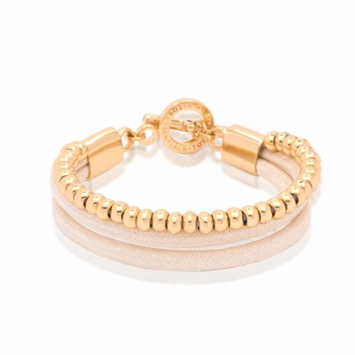 Multi cord - Gold/ Ecru - Armband