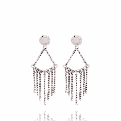 Multi chain earrings - White gold