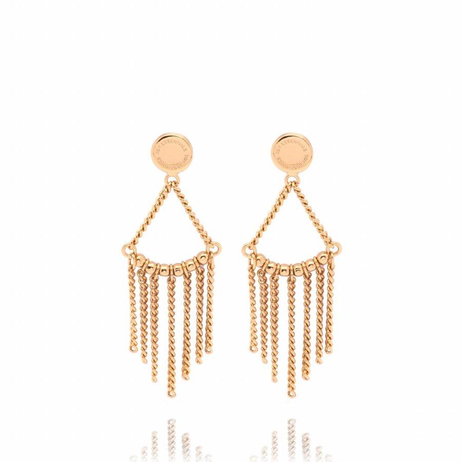 Multi chain earrings - Gold