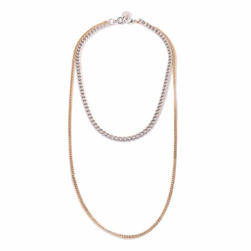 Fun Necklace - Light gold/ White gold