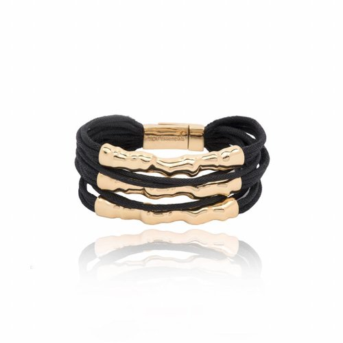 Oak twig bracelet - Gold/ Black