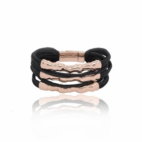 Oak twig bracelet - Rose Black