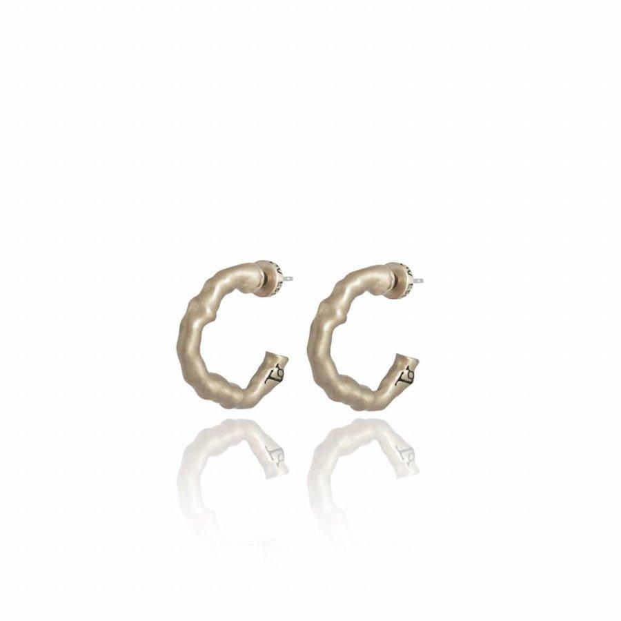 Oak small earring - Light brass
