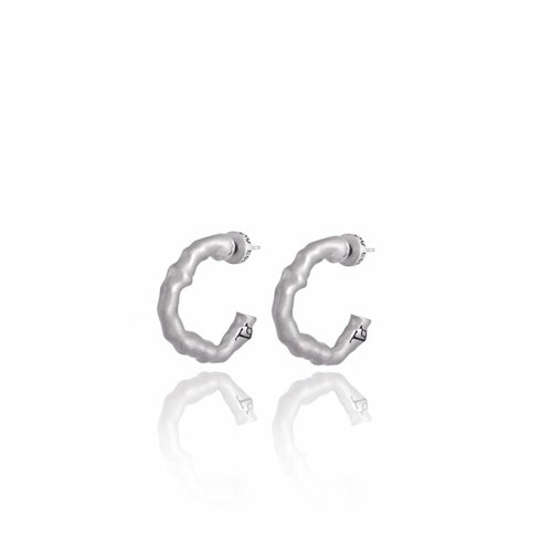 Oak small earring - Silver plated
