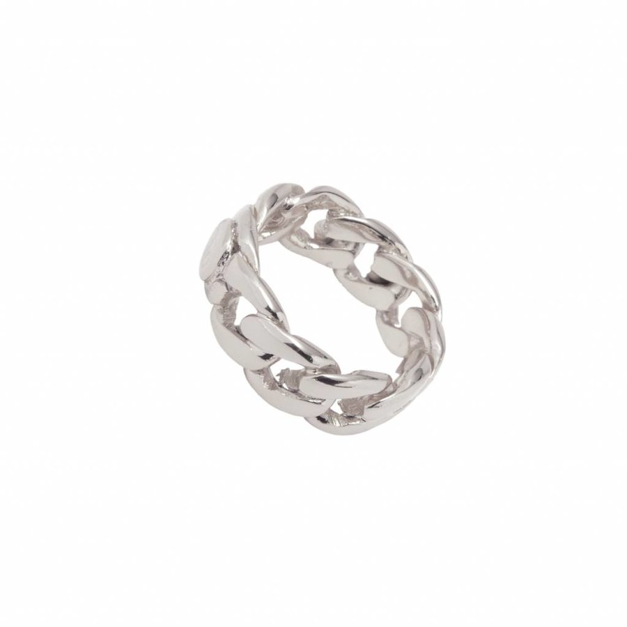 Braided chain ring - Zilver