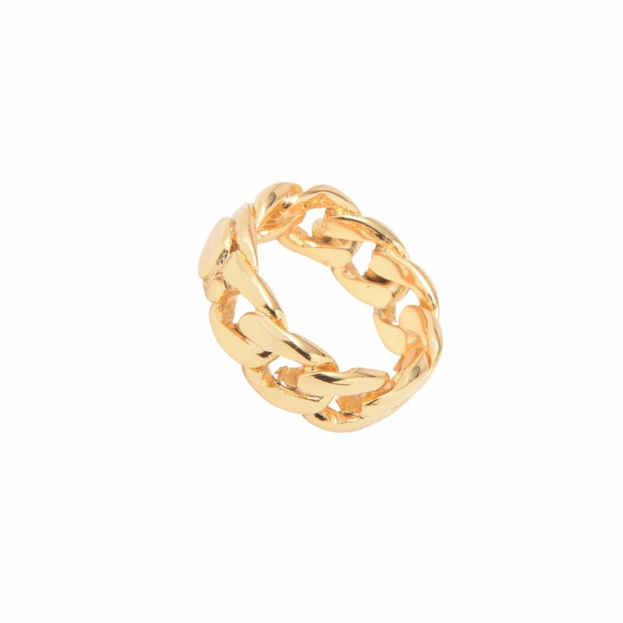 Braided chain ring - Gold