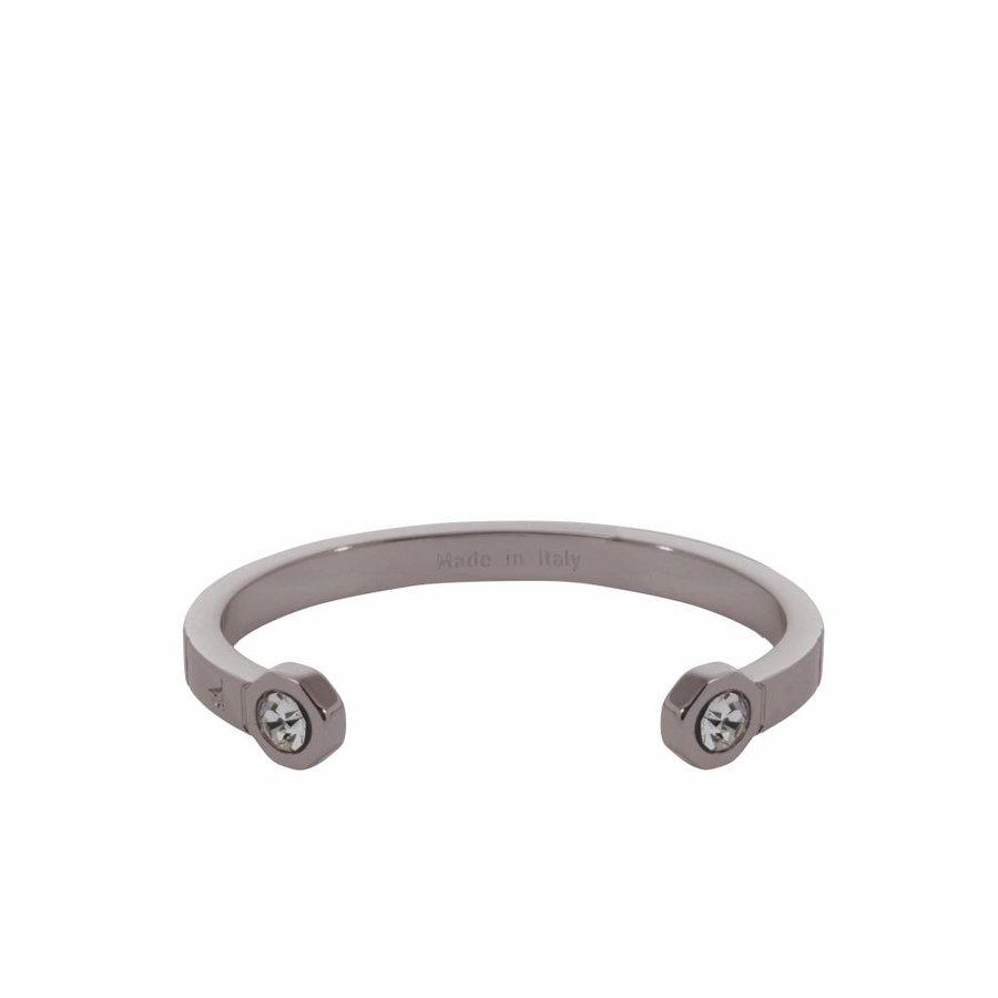 Phoenix cuff (Armband) - Gun metal/ Zwart diamond