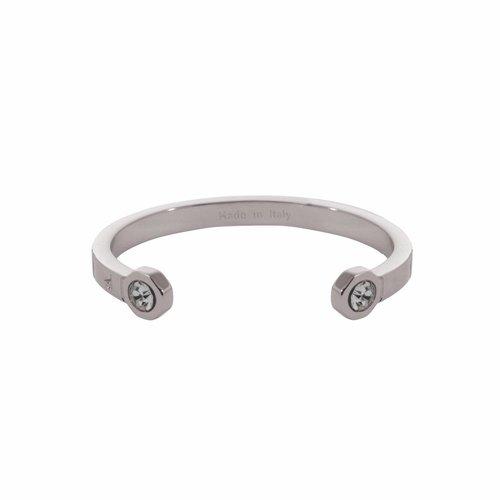 Phoenix cuff (Armband) - Wit goud/ Zwart diamond