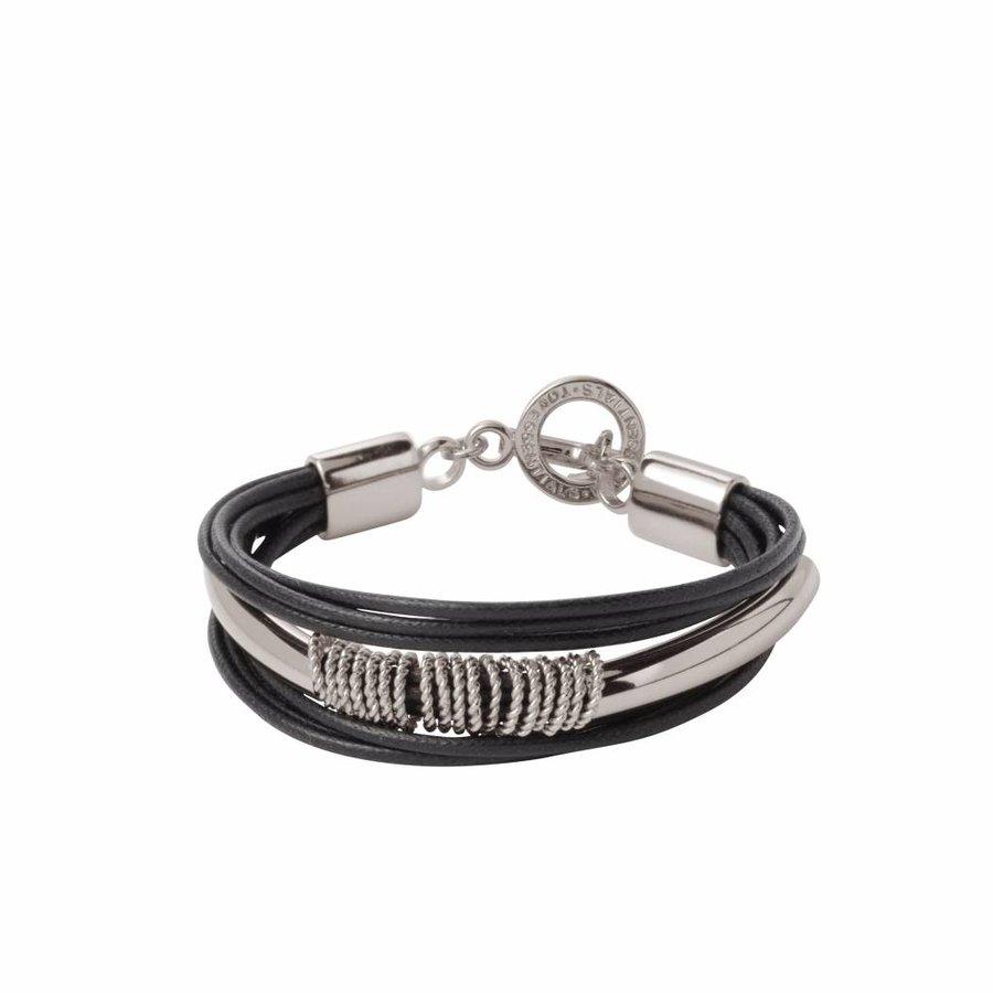 New lits of cord bracelet - Silver/ Black