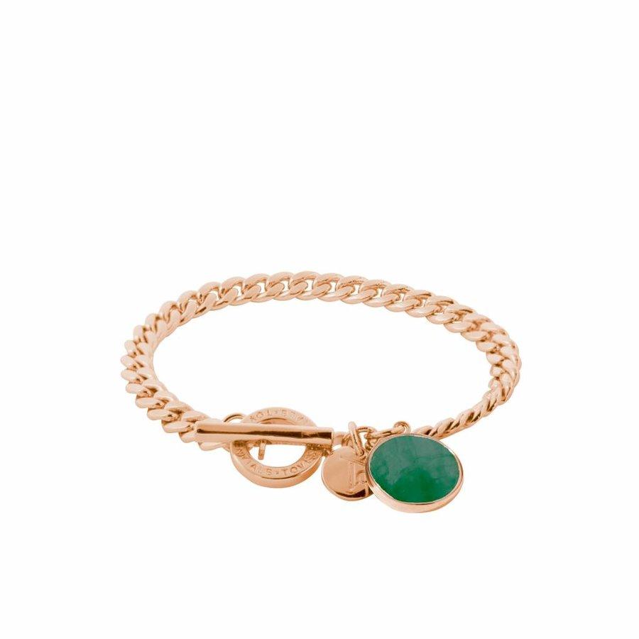 Mystic flatchain bracelet - Rose/ Emerald