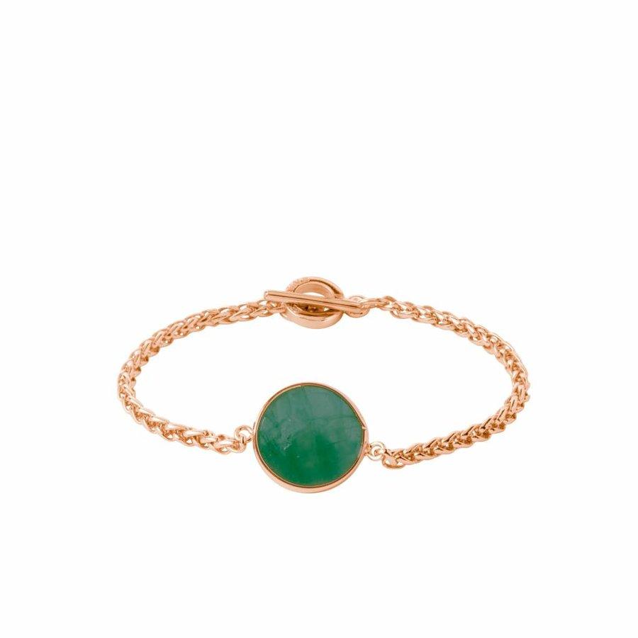 Mystic ini mini spiga bracelet - Rose/ Emerald