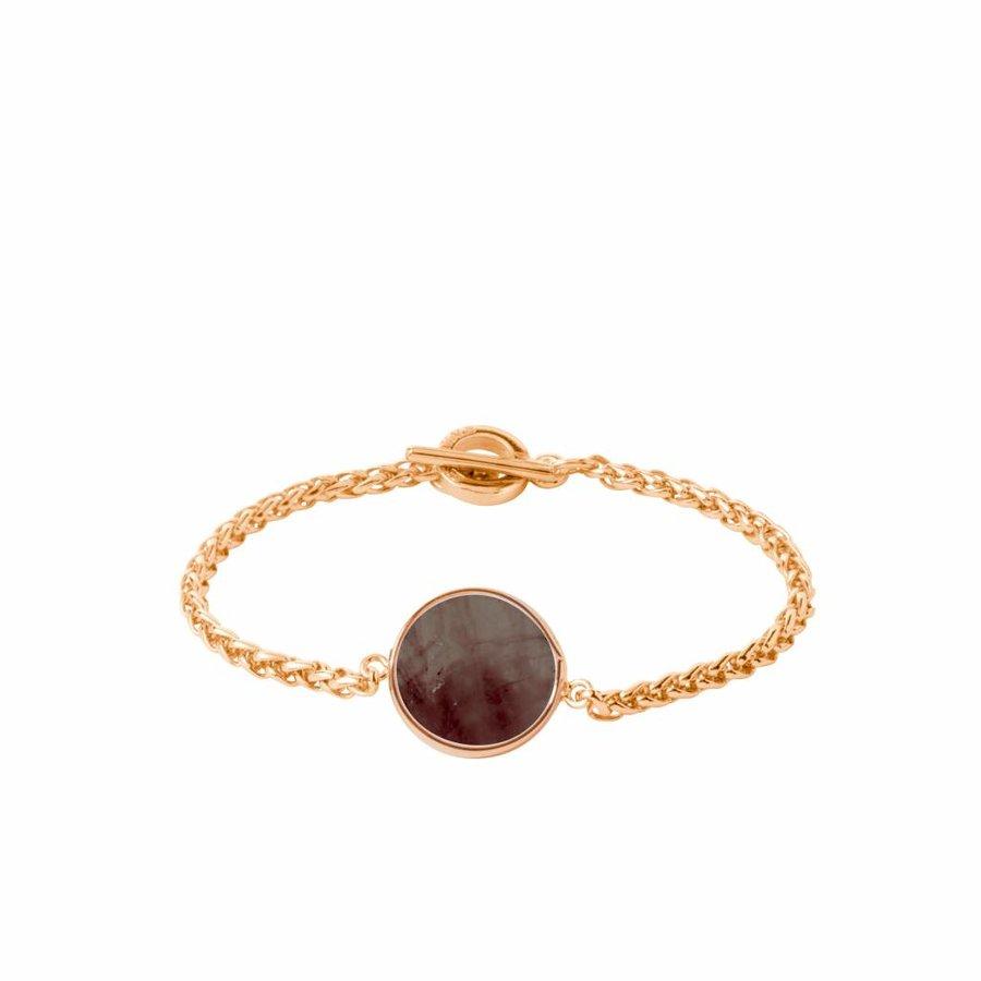 Mystic ini mini spiga bracelet - Gold/ Smoke quartz