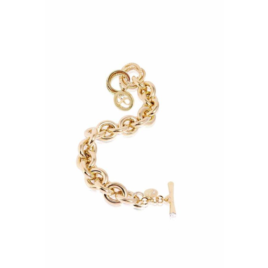 Gourmet infinity medallion bracelet - Light gold