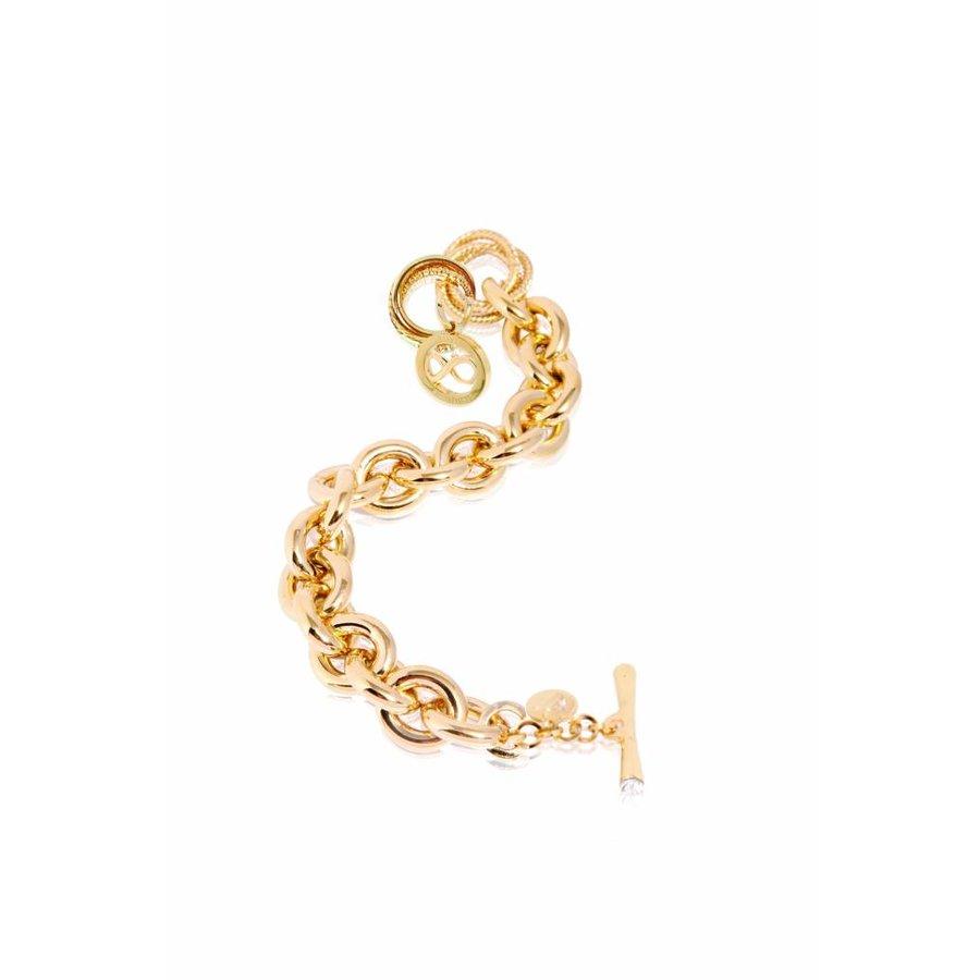Gourmet infinity medallion bracelet - Gold