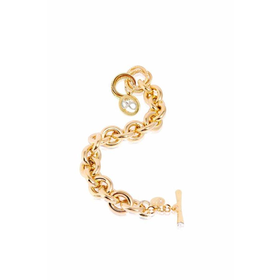 Gourmet infinity medallion bracelet - Gold/ Silver