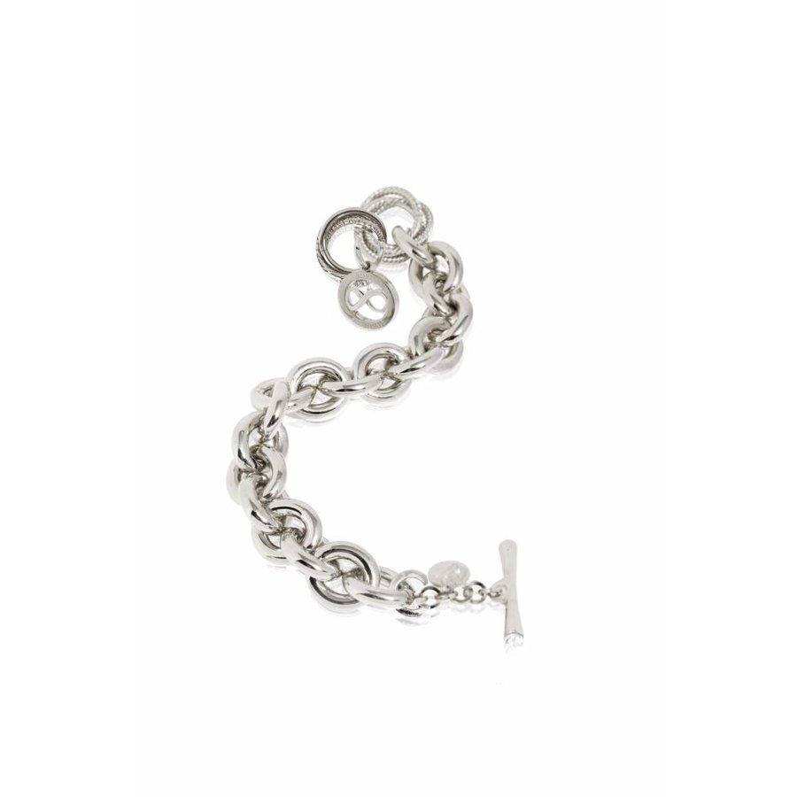Infinity Medallion - Armband - wit goud