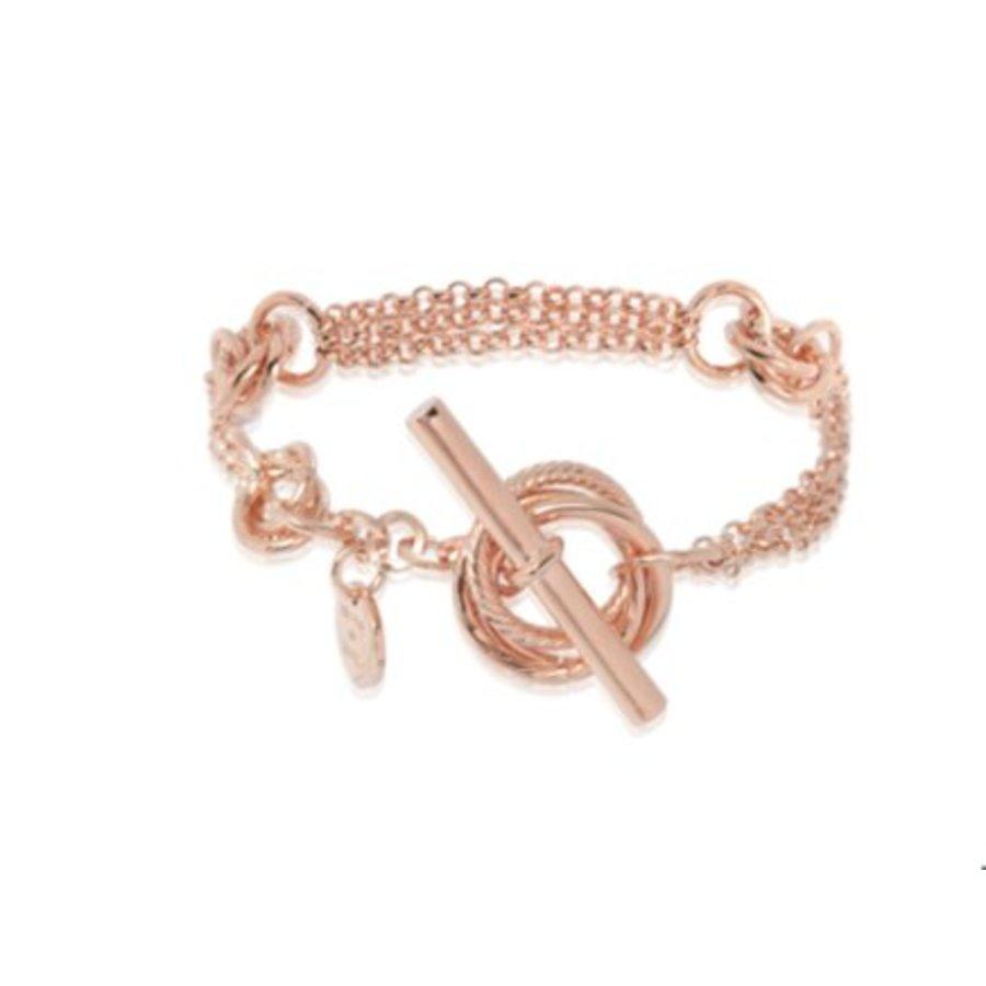 Multi fine rings armband- Rose