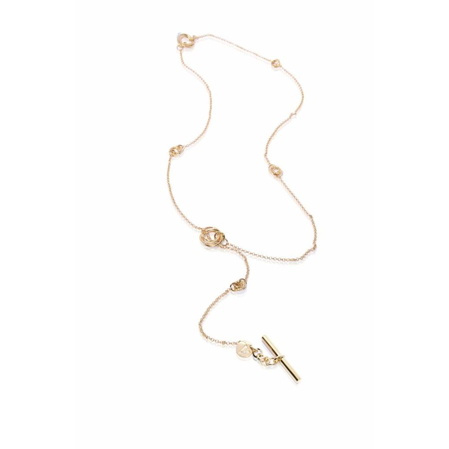 Multi necklace - Light gold