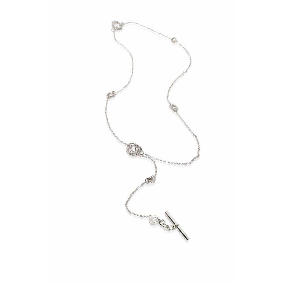 Multi necklace - wit goud