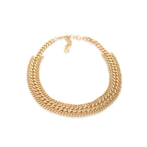 3 Types of chains short collier - goud