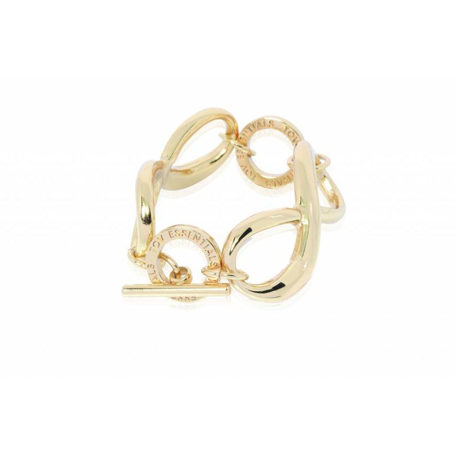 Big infinity - Armband - Champagne goud
